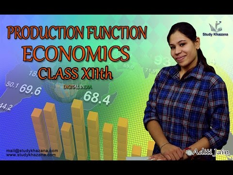 Production Function - XII th - Economics -  Aditi Jain | Study Khazana