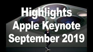 Highlights Apple Keynote September 2019