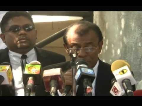 Lawyers Protest against Lasantha Wickramathunga Assasination
