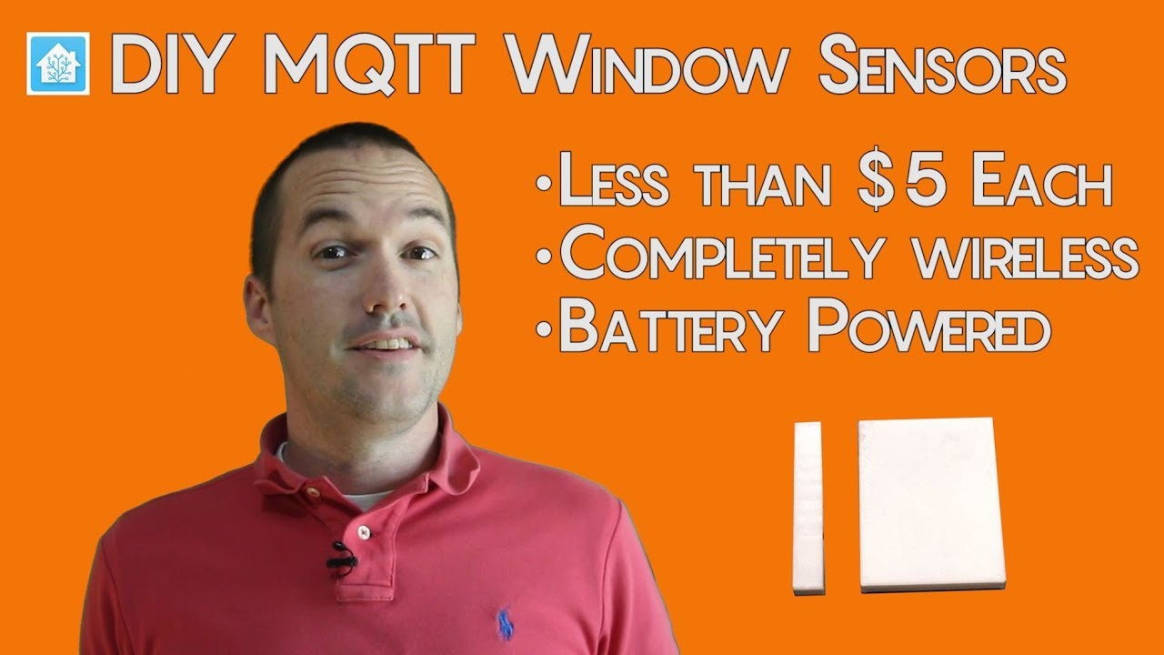 $5 DIY Wireless MQTT Smart Home Window Sensors