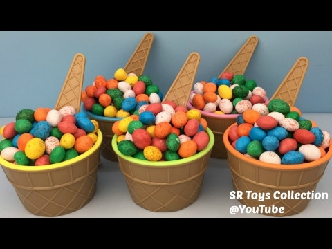 Thumbnail: Ice Cream Candy Surprise Cups My Little Pony MLP Finding Dory Disney Princess Surprise Eggs Zelf Toy