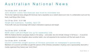 National News Headlines for 23 Apr 2019 - 8 AM Edition