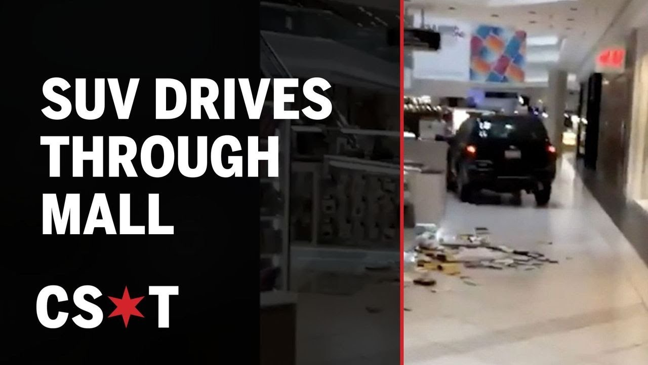 Video captures SUV driving through Woodfield Mall in Chicago suburb of Schaumburg