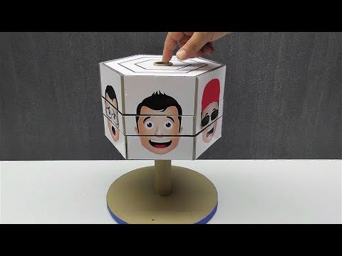 DIY Super game Change the face from cardboard Antistress game