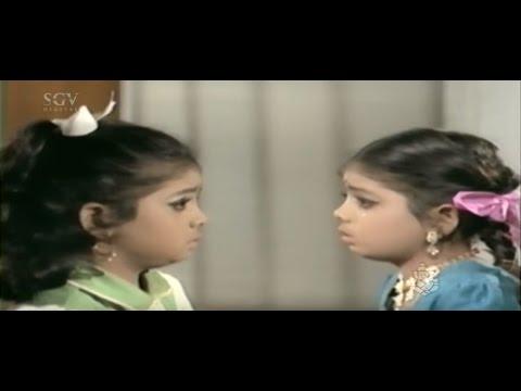 Dr Vishnuvardhan Hits | Baby Indira Double Roll Kannada Scenes | Makkala Bhagya Kannada Movie