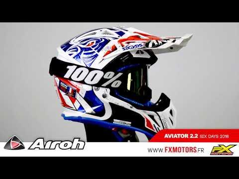伊摩多※義大利 AIROH AVIATOR 2.2 CHECK MATT 越野帽 AV22C38 霧白黑 碳纖 超輕量