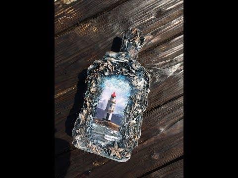 Бутылка в морском стиле своими руками фото