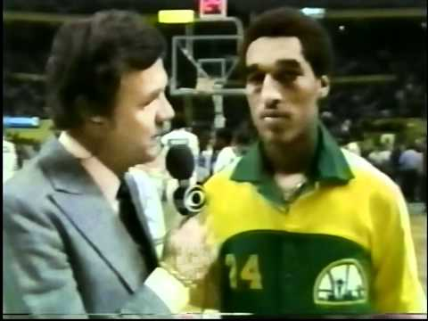 Dennis Johnson interview during Celtics game as a Seattle Supersonic