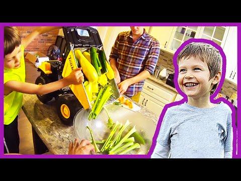 Toy Trucks Make Organic Soup