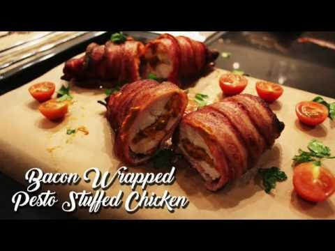 BACON WRAPPED PESTO STUFFED CHICKEN   QUICK AND EASY   CHEF P