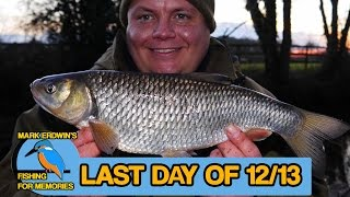 Fishing - The final day of the coarse fishing season on the river (Video 54)