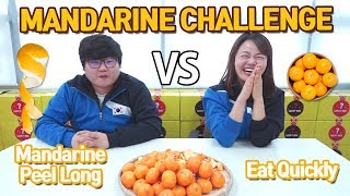 [tfunnyshow] MANDARINE FOOD CHALLENGE   KOREAN COMPETITION   PENALTY   HALLYU