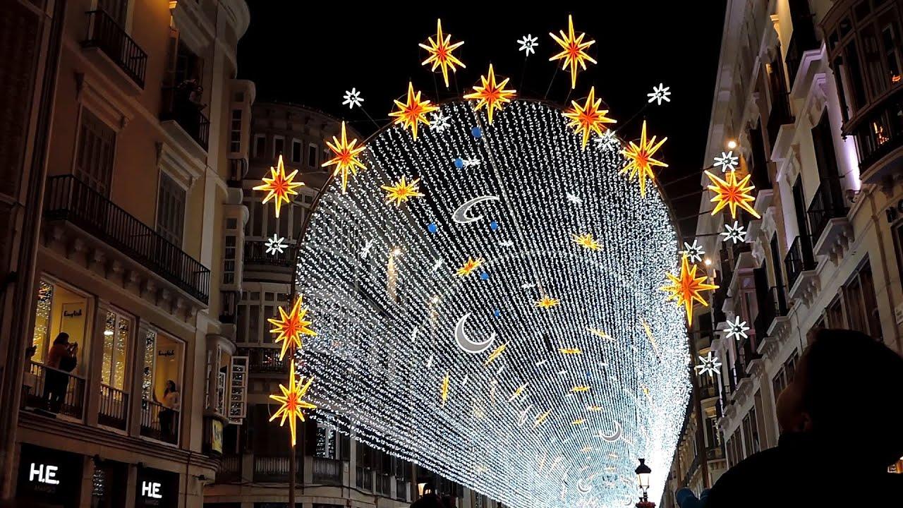 Inauguraci n alumbrado navide o m laga 2015 2016 youtube - Iluminacion led malaga ...