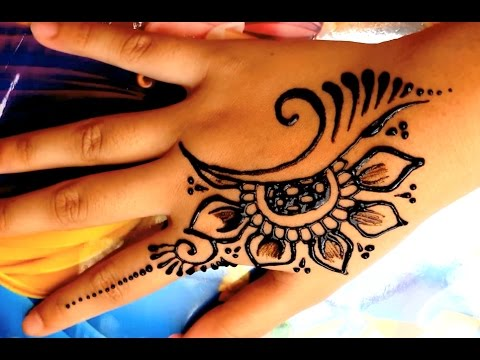 ᴴᴰ Mehndi Henna Tangan Simple Motif Flower Youtube