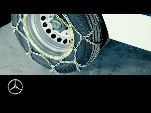 How to install tire chains on a Mercedes-Benz van