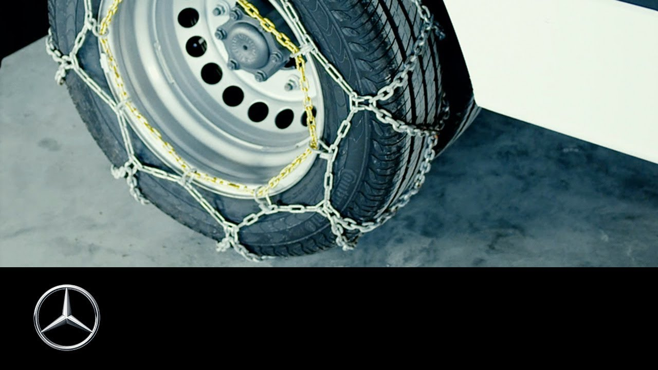 How to install tire chains on a mercedes benz van youtube for Mercedes benz tire chains