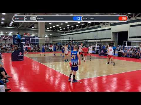 BJNC 2019 Dallas (2019-07-06) - MVVC 15 Red vs MB Surf ASICS 15's - Set 2