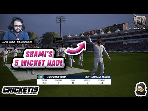 Shami's Five 5️⃣ Wicket Haul 🎯 Vs England 🇬🇧 • Cricket 19 ❤️