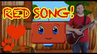 Learn the Color Red! Nursery Rhyme Song