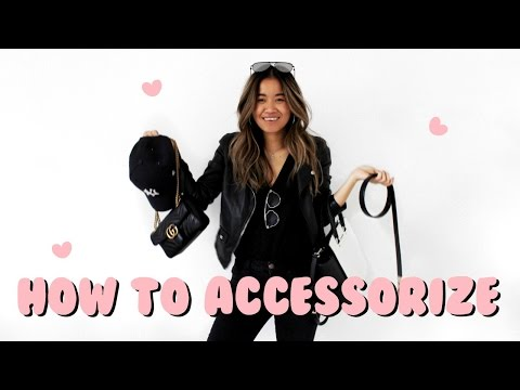 HOW TO ACCESSORIZE / 1 OUTFIT 5 WAYS | rachspeed