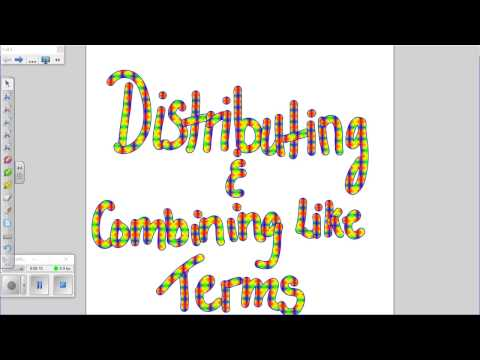 Distributing and Combining Like Terms with Negatives