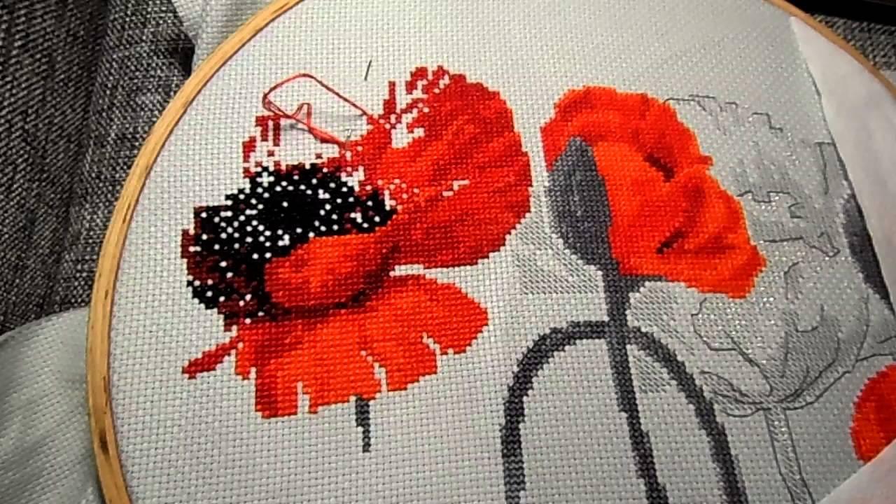 Вышивки риолис маки