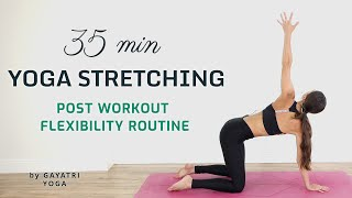 Morning Vinyasa Yoga Flow | 35 Min Full Body Stretch Routine | After Workout Yoga