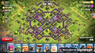 Clash of clans 200 bar 200 archi 200 maghi