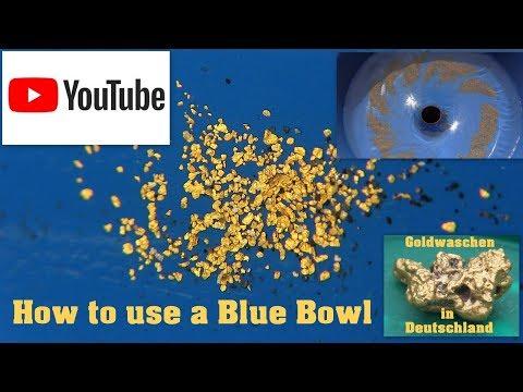 Goldwaschen in Deutschland - 29 - DIY Blue Bowl im Test - Gold Panning