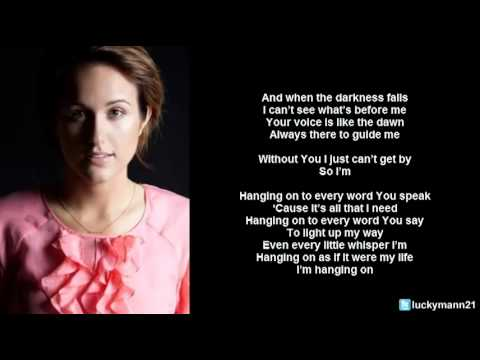 Britt Nicole - Hanging On (Lyric Video) Christian Pop