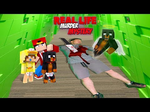 Minecraft REAL LIFE MURDER MYESTER???? - WHO KILLED DONUT IN REAL LIFE??