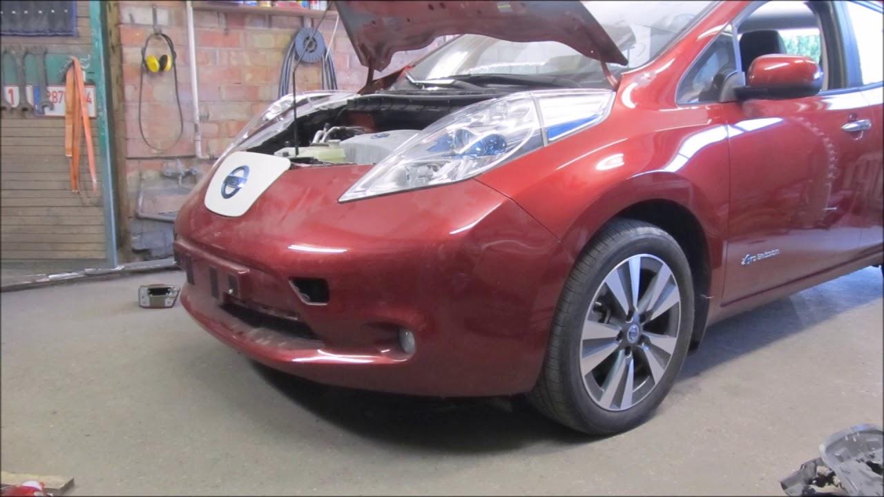 Nissan Leaf The Front End Repair Ремонт переда Doovi