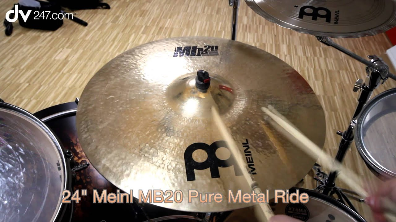 Meinl MB20 24 Pure Metal Ride - YouTube 99f1096412fd