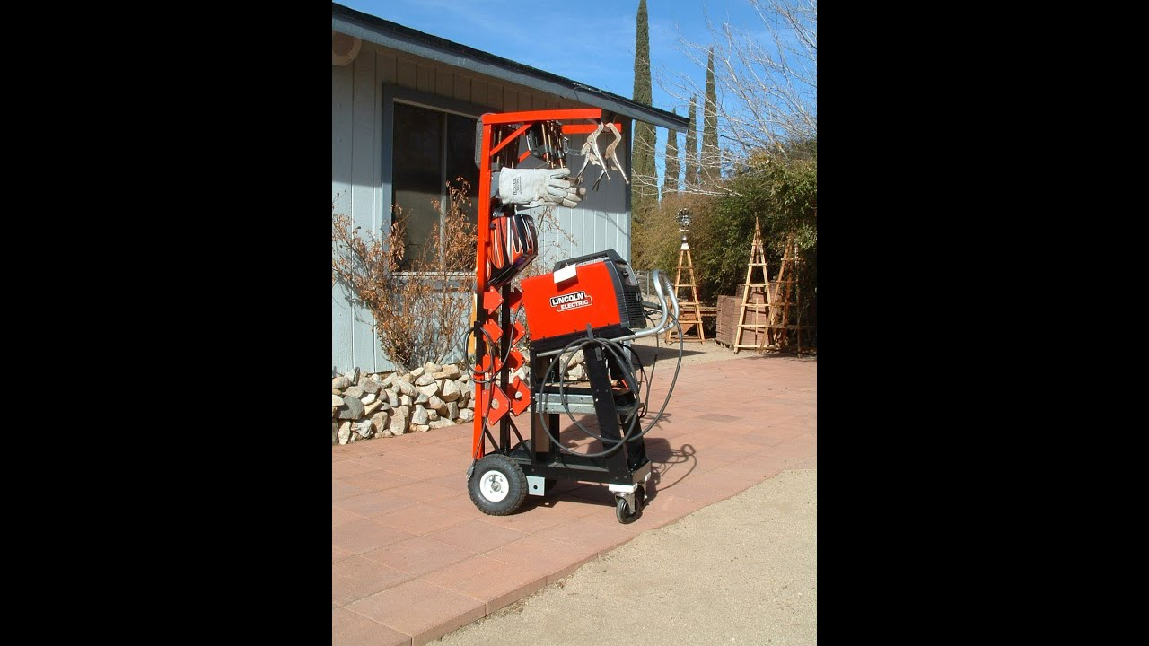 Welding Cart With Rack Build Full Edit Youtube
