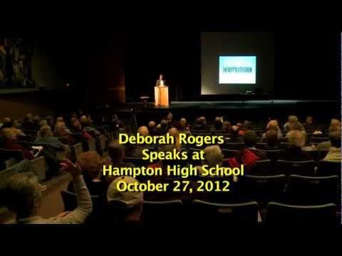DEBORAH ROGERS SPEAKS IN HAMPTON
