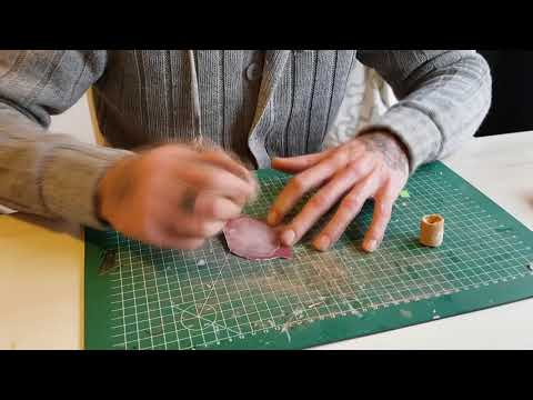 making a ring from veneer