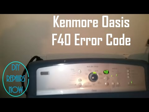 How to Fix F40 Error Code on Kenmore Oasis Electric Dryer | Model 110.67087600