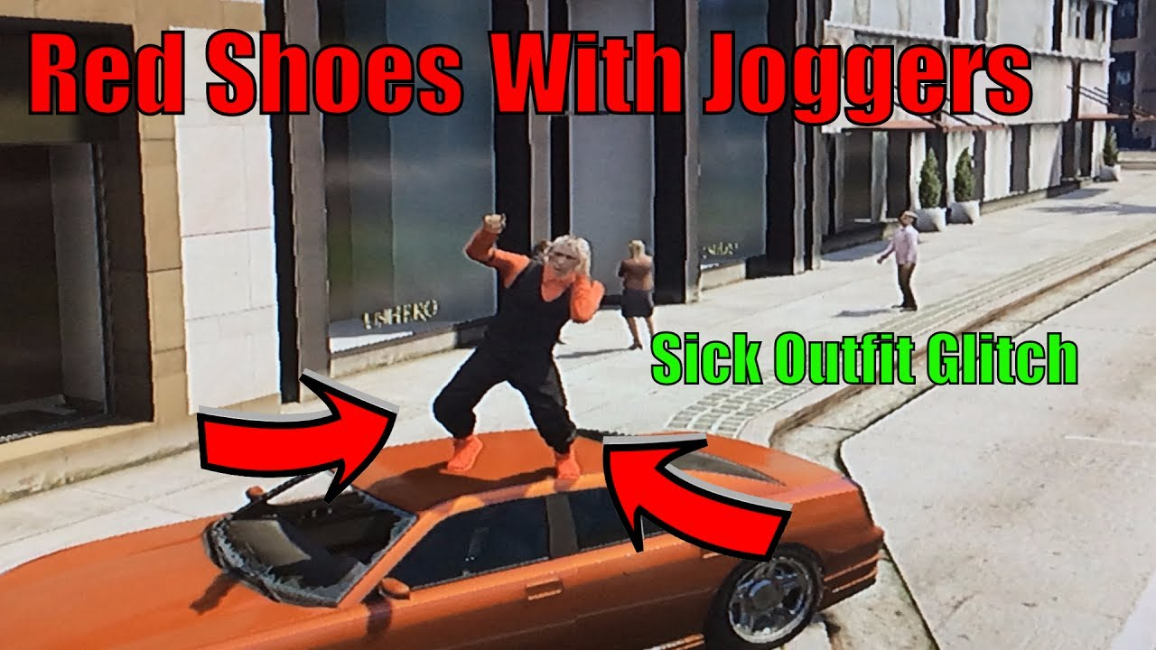 GTA 5 Online: How to get the Red Shoes with the Joggers Glitch(PS3/Xbox360)