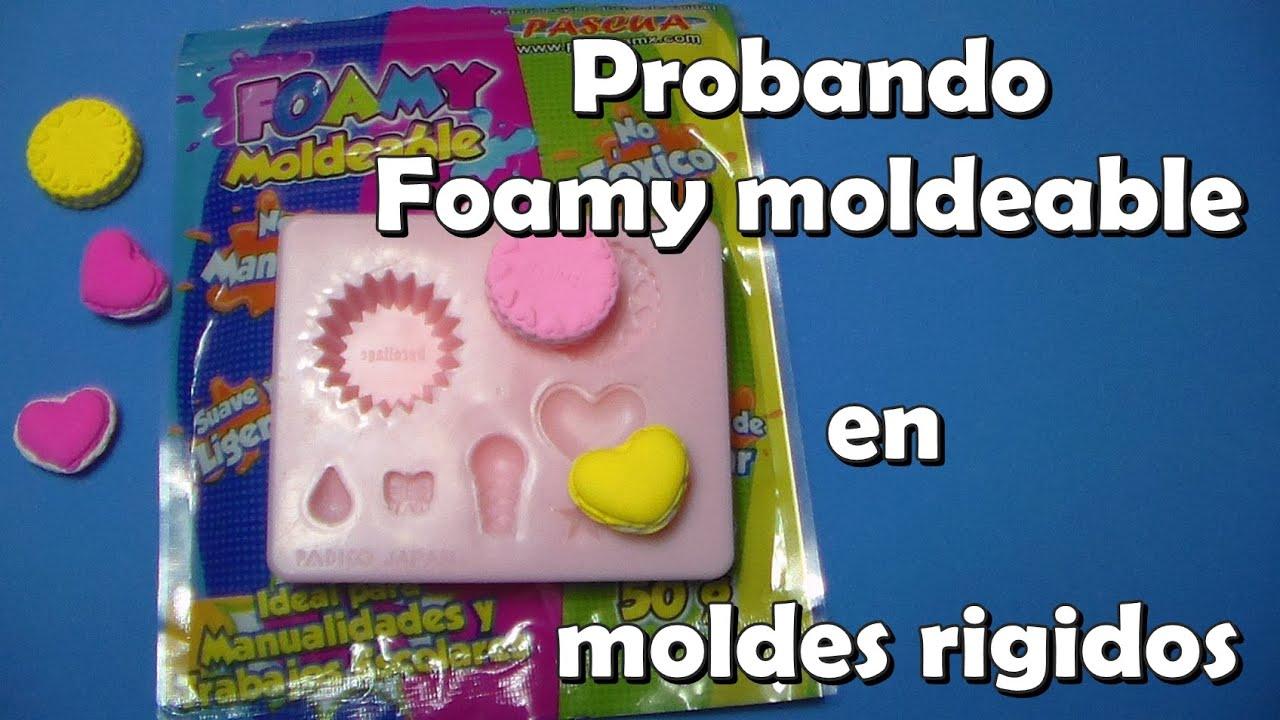 Moldes Para Lazos De Foamy: Probando Foamy Moldeable En Moldes Rigidos / Pasta Ligera
