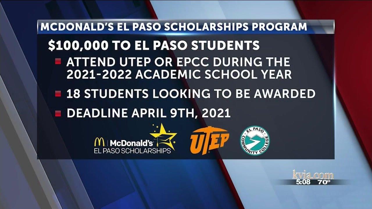 Utep 2022 Calendar.100 000 Scholarship Available For El Paso High School Seniors Kvia