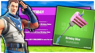 "Leaked Fortnite ""Birthday Challenges"" And Rewards! 