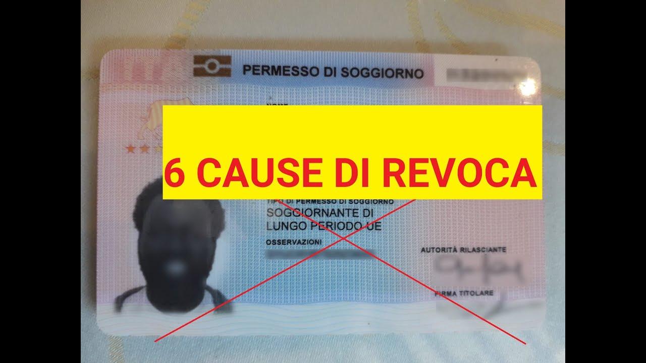 6 cause di rivoca del permesso di soggiorno UE per ...