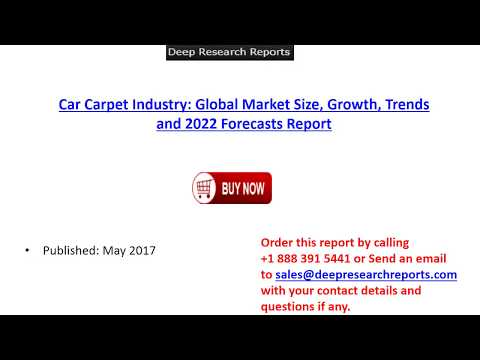2017 Car Carpet Industry Global Market Trends, Share, Size and 2022 Forecasts Report