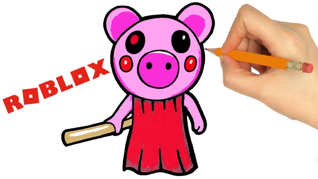 COMMENT DESSINER ROBLOX PIGGY - YouTube