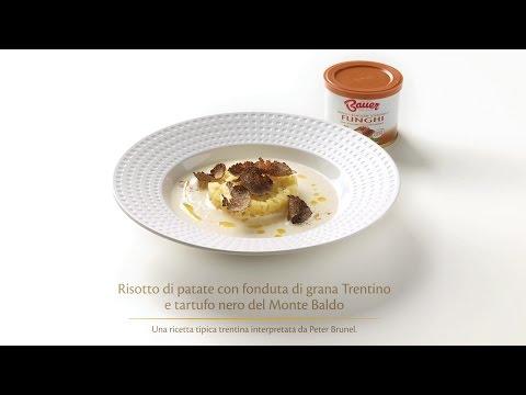 Ricetta - Risotto di patate con fonduta di grana trentino e tartufo nero del Monte Baldo - BAUER