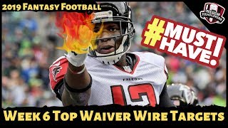 2019 Fantasy Football Rankings - Week 6 Top Waiver Wire Players To Target
