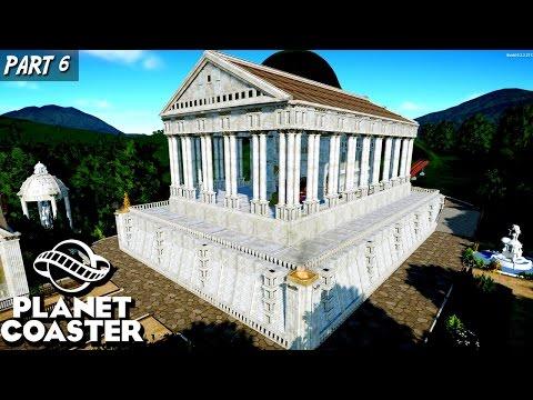 Roman Temple Coaster | Planet Coaster | Alpha 2 | Gameplay