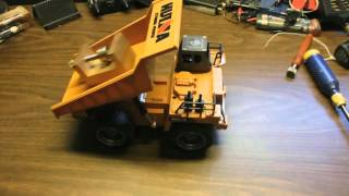 huina 1540 1/12  scale rc dump truck review
