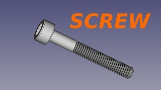 Freecad course - screw
