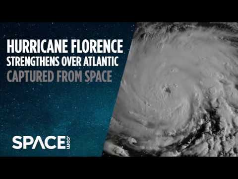 Hurricane Florence Strengthens Over Atlantic in Satellite Views